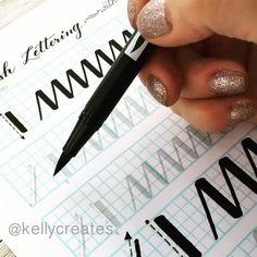 Handlettering by @kellycreates using @tombowusa Dual Brush Pen