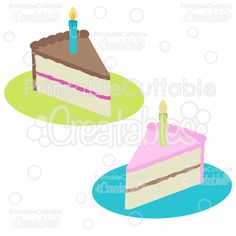FREE SVG Birthday+Cake+Slices+Free+SVG+Cut+Files+&+Clipart