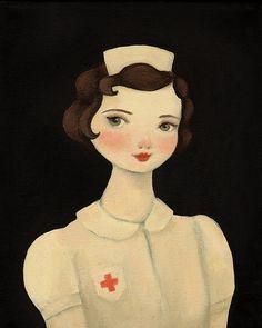 Nurse Effie Print / Oddfellow's 2012 Portraits  by theblackapple, $16.00