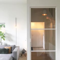 Stalen deur | Interieur design by nicole & fleur Sliding Room Dividers, White Doors, Steel Doors, Living Room Interior, Door Design, Windows And Doors, Glass Door, Home And Living, Interior Inspiration