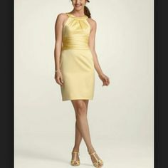 Canary Yellow Formal Dress