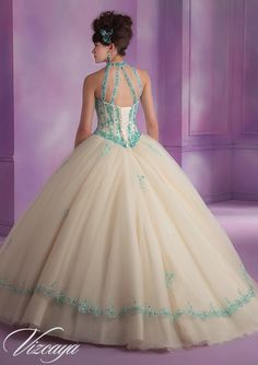 Quinceanera Gowns Style 89001: 89001 Tulle Quinceanera Dress with Embroidery and Beading http://www.morilee.com/quinceanera/quinceanera_vizcaya/89001