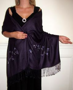 This 2016 wear scarves shawls & wraps to express the real you. Try custom #handcrafted #shawls made in a day for your wedding and evening wrap needs.http://www.yourselegantly.com/very-beautiful-dark-purple-shawl-flowery-vine-extravaganza-5011.html