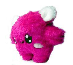 Fluse Kawaii Kuschel Kugel Monster Pink von Fluse123 auf Etsy, €25.00