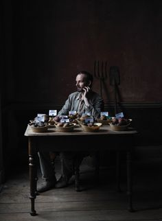 Dermot Carney, organic grower from Sligo, was one of the curators of the Lissadell-Langford Heritage Potato Collection, protecting variations of our nation's traditional staple. He has a collection of almost 300 varieties of heritage potatoes.   Photo by Barry McCall #Irish #artisan # potato #heirloom #heritage