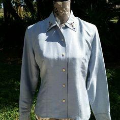 ??Host Pick ??  Liz Claiborne  Silk Blouse Gorgeous liz Claiborne  silk blouse with embroidery on collar and cuffs. Liz Claiborne Tops Blouses
