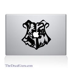 Hogwarts Crest Mac Decal-- I want!!
