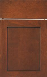Bridgeport Recessed Shown in Candlelight finish with black glaze on cherry. Additional drawerhead styles available