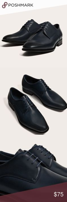 NWT Zara smart lace up shoes 😍 🔥Smart derby shoes. Leather insoles . Four eyelet  lace up fastening. Pointed toes and classic style.  100% polyester Zara Shoes Oxfords & Derbys