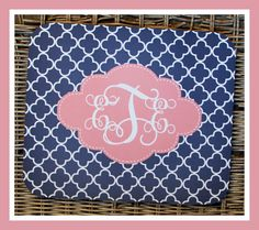 Gift Ideas Monogrammed Gifts Computer Mouse Pad by ChicMonogram, $16.00