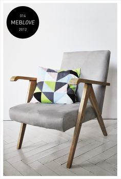 meblove 014    vintage design grey armchair