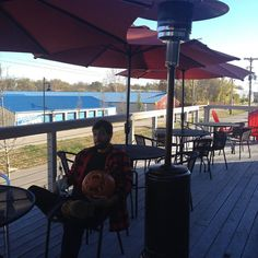 Hey Birdwatchers don't let these nice autumn days slip away! Come cozy up on our patio and enjoy a warm $5 Cardinal Toddy. Take it from Kevin and Pumpkin it's the place to be!