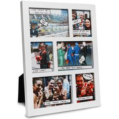 Perfect for displaying a timeline of events (say, a birthday party, wedding, or road trip) and then adding a personal touch at the end with clever speech bubbles. The Comic Book Photo Frame comes with 45 speech bubble stickers and a pen. Comic Book Frames, Comic Books, Bubble Stickers, Comic Pictures, Geek Out, The Last Airbender, Creative Gifts, Freeze, Picture Frames