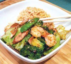 Skinny Chinese Recipes from SkinnyMom | Skinny shrimp stir fry recipe