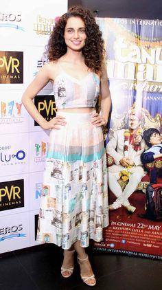 Kangana Ranaut promoting 'Tanu Weds Manu Returns'.