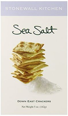 Stonewall Kitchen Sea Salt Crackers 5 Ounce Box *** Check out the image by visiting the link. Salt Crackers, Stonewall Kitchen, Gourmet Cheese, Sea Salt, Cool Things To Buy, Snack Recipes, Chips, Cooking, Agriculture