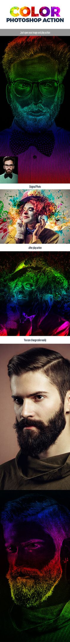 DOWNLOAD:  goo.gl/sRI7HzGradient Color Photoshop ActionCreate beautiful Color explosion from any photos in just a click. Its super easy to use and save yourself hours of work. Unlimited...