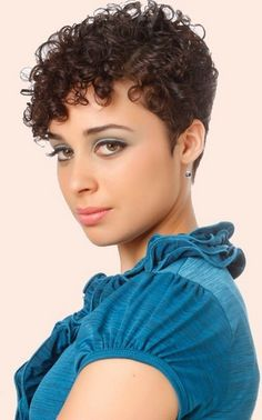 curly hairstyles for short hair. short pixie hairstyle