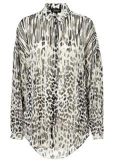 TOPSHOP Print Oversize Shirt |