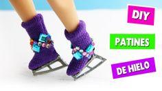 DIY | Como hacer patines de hielo - manualidades para muñecas - manualid...