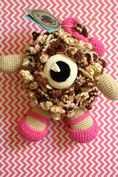 Susie the Ruffle Girl. Handmade amigurumi toy for by Happielephant, $49.00