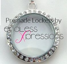 Pre made lockets av available http://www.endlessxpressions.com/store/#barbgruhl