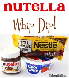 Nutella Whip Dip!The Frugal Girls in Chic and Crafty, Dessert Recipes, Recipes