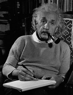 """Albert Einstein: """"I believe that pipe smoking contributes to a somewhat calm and objective judgment in all human affairs."""""""