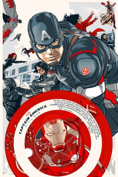 Poster Posse put together a tribute to first summer blockbuster with a whole slew of Captain America Civil War art featuring our heroes at war. Heros Comics, Marvel Dc Comics, Marvel Heroes, Marvel Avengers, Captain Marvel, Poster Marvel, Films Marvel, Marvel Characters, Captain America Civil War