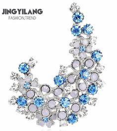 Color full rhinestones brooch women jewelry 2colors