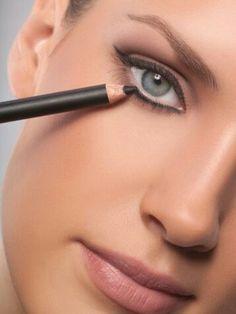 Beauty tips put eye liner on the bottom of your eye