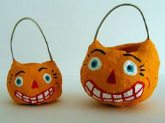 Jack O Lantern pumpkin buckets by Seasons Art, via Flickr