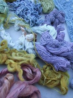 The gorgeous results of natural dyes.