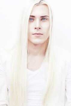 OMG, I think this just might be Finn. Long white hair, blue eyes. Dark eyebrows. Now he needs some black stubble and chest hair.