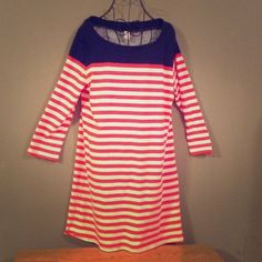 """OLD NAVY Ships Ahoy Midi Dress Totally adorable and super comfy! EUC. Length 30"""", bust 21"""". Price firm. Old Navy Dresses Midi"""