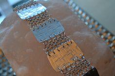 Shield European Chain Maille Bracelet  Aluminum by AthenasArmoury
