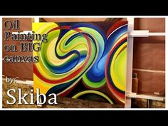ABSTRACT painting, dynamic, how to, oil on canvas - YouTube