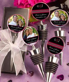 Wedding Favors Wine Bottle Topper Personalized by jYOUlry on Etsy, $2.75