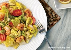 Delicious and protein-packed seafood salad from Jennie Finch!