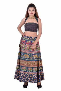 Indian Cotton Rapron Ethnic Mandala Printed Women's Long Wrap Around Skirt Dress Indian Skirt, Wrap Around Skirt, Long Skirts For Women, Skirt Belt, Ethnic Print, Cotton Skirt, Ethnic Fashion, Two Piece Skirt Set, Prints