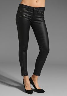 RAG & BONE/JEAN Legging w/ Zippers in Seal at Revolve Clothing. $253
