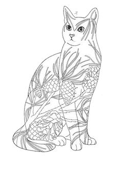 Fantasy Flower Cat 6 coloring page