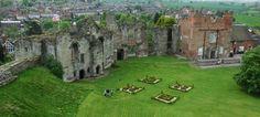Tutbury Castle, Staffordshire, England