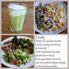 Gezond leven van Jacoline, met een heerlijke verrassende smoothie Avocado Smoothie, Smoothie Drinks, Smoothies, Lchf, Superfood, Broccoli, A Food, Cabbage, Clean Eating