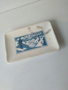 Retro New Zealand stamp Crown Lynn dish | Trade Me Dish, Stamp, Crown, Retro, Corona, Stamps, Retro Illustration, Crowns, Crown Royal Bags