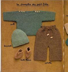 RECEITA TRICÔ FÁCIL Revista TRICÔ Bebês(Frances)  Receitas tricô completa para bebê,sapatinhos,meias,casacos,conjuntos, macacão,ves...
