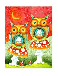 Steampunk Owls