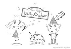 Blog de los niños: Ben and Holly's little Kingdom coloring pictures