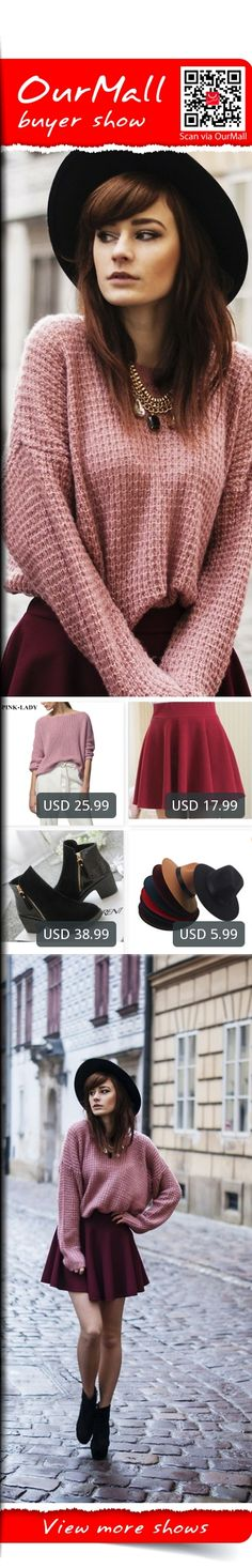 This is Katarzyna Konderak's buyer show in OurMall;  1.Winter New Arrivals Female Loose Sweaters Jumper Women's Fashion Solid Knitted Sweaters 2.bust skirts women big swing sun skirt bottoming pleated skirts ladies 3.2015 fashion autumn ankle boots pu leather shoes woman suede Spli... please click the picture for detail. http://ourmall.com/?3amY7v #sweater #sexysweater #sweaterforwomen #sweaterforgirls #springsweater #graysweater #cutesweater #refashionsweater