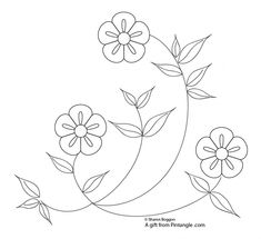 a gift of a floral hand embroidery pattern